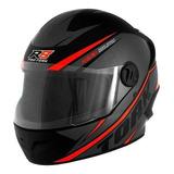 Capacete Para Moto Integral Pro Tork R8 Preto/vermelho Tamanho 58