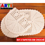 Conjunto Tapete Crochê - 2 Tapetes + Passadeira Arteemlinha
