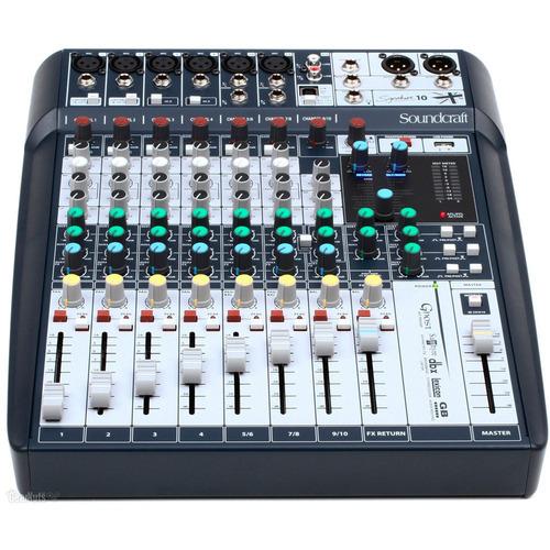Mesa De Som 10 Canais Soundcraft Signature 10 Interface Usb