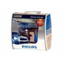 Lâmpada Super Branca Diamond Vision Philips H4 H7 Hb3 5000k