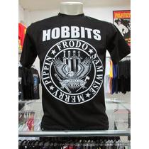 Camiseta Hobbits Lord Of The Rings Senhor Dos Anéis Cinema