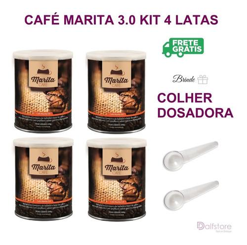 Café Marita 3.0 Kit 4 Latas Brinde 2 Colheres Promoção 24hs