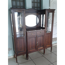 (only Wood) Cristaleira Antiga Marmore Portugues Original