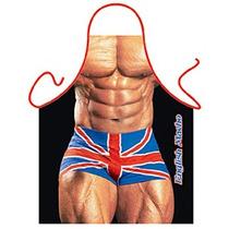 Avental Da Cozinha - Inglês Britânico Macho Man Novelty Bbq