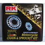 Kit Relação Coroa/pinhão/corrente Rk Yamaha Xj6 N/f 2010/13
