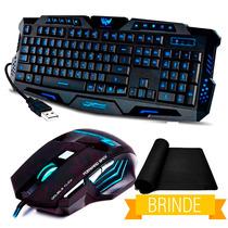 Kit Usb Mouse Gamer Led 2400dpi + Gamer Teclado Abnt2 K92