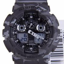 Relógio Casio G-shock Ga-100 Cm-8a Camuflado 5 Alarmes 200m
