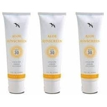 Aloe Sunscreen Forever Living Kit 3 Unidades Protetor Solar