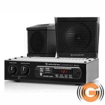 Kit Som Ambiente Receiver Hayonik Usb Bluetooth 2 Caixas Fio