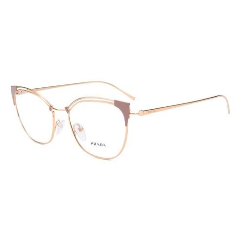 f7e65e81d34ea Armação Óculos De Grau Feminino Prada Vpr62u Yep-101