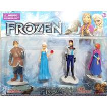 Bonecos Frozen Elsa Anna Kristof Hans Olaf Sven Coleção