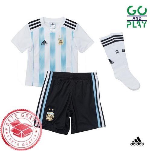 2688f5ce75 Camisa Argentina Infantil Unif. 1 18 19 Frete Grátis - R  139 en ...