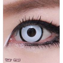 Olhos Cosplay-lens Branca Com Borda-pronta Entrega Halloween