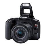 Câmera Canon Dslr 24.1mp, 3  Gravação Full Hd - Ef-s 18-55mm