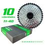 Cassete Megarange 10vel   11 40 2x10 Gta Compativel Shimano