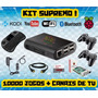 Kit Emulador Raspberry 12mil Jogos   Multimídia 4 Controles