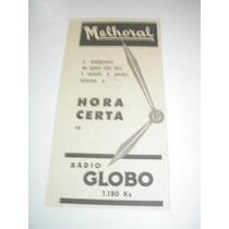 ( L - 290/ G ) Propaganda Antiga Melhoral Rádio Globo