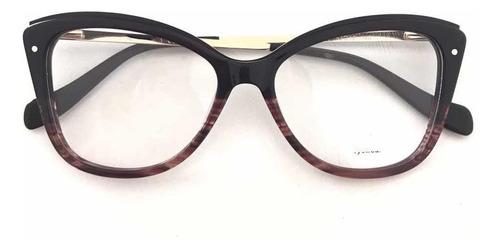 ab8232151 Óculos Armações Grau Feminino Estiloso Trend 2019 Resistente