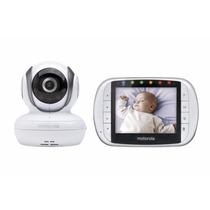 Babá Eletrônica Motorola Mbp36s 3.5 Pol Câmera Vídeo Noturna