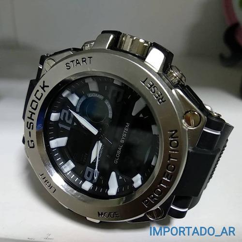 7e86030fb47 Relógio Masculino Aço Dourado Prata Pesado Grande Promoção - R  79 ...