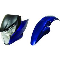 Frontal+laterais+paralama Titan 150 Azul Metálico 2012