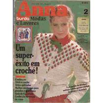 Artesanato Burda Anna Fevereiro De 1983 Com Riscos Trico E