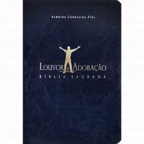 Bíblia Louvor E Adoração - Capa Luxo Azul