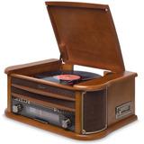 Vitrola Raveo Ópera Bt Toca-discos Cd Bluetooth K7 Promoção