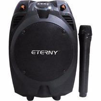 Caixa Amplificada Eterny Et43006ab Portátil Recarregável Mic