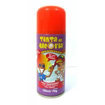 Spray Colorir Cabelos Tinta Da Alegria Carnaval Laranja