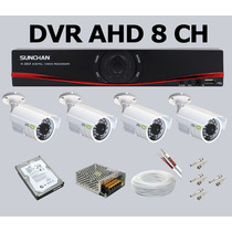 Kit Stand Alone 8 Canais Dvr 240fps 4 Câm Hd 1tb Cabo Fontes