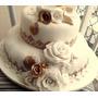 Bolo Decorado Para Casamento 5 Kls De 425,00 Por 300,00