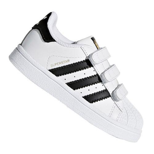 Tênis Infantil adidas Superstar Cf I Branco E Preto Original 14d37d2234ee6
