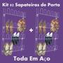 Kit 02 Sapateira Em Aço 24 Divisórias Porta E Parede Closet