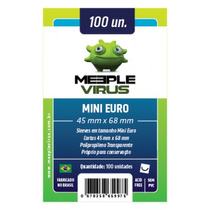 Sleeves Meeple Virus Mini Euro 45 X 68 Mm Pacote C/100