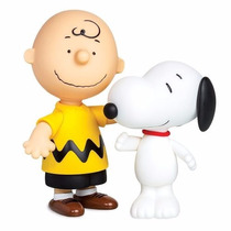 Kit Bonecos Charlie Brown + Boneco Snoopy Vinil - Grow