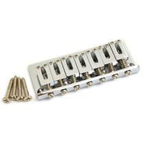 Ponte Fixa Cromada Guitarra Strato 7 Cordas Hardtail Style