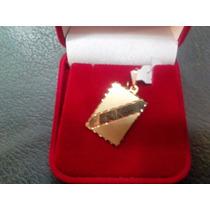 Pingente Placa Gravar Nome Em Ouro 18k 750 Maciço