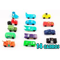 14 Miniaturas Carros Disney Mcqueen Filme Carros Mack Dinoco