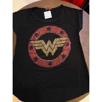 791020bf90 Camiseta Feminina Mulher Maravilha Com Strass à venda em Vila ...