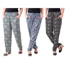 Calça De Viscose Soltinha Verão 2015 Estampada Pantalona