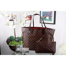 Bolsa Louis Vuitton Neverfull M M Damier Ebene - Original!