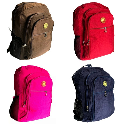 0edbc266e Mochila Feminina Fashion Bag Style Em Crinkle Cores Ref194 - R$ 39 ...