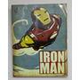 Quadro Placa Vingadores Iron Man Homem De Ferro Tony Stark