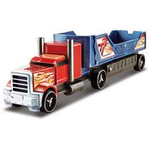 Hot Wheels - Caminhão Batida Com Veículo - Vermelho E Azul -