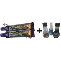 2 Polidor Metal Aço Inox Liga Leve + Cristalizador De Vidro