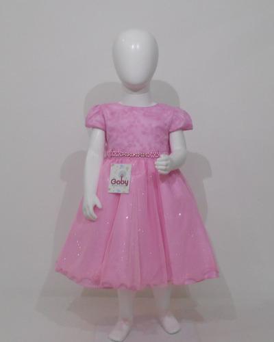 0f3969815 Vestido Infantil De Festa Luxo Princesa Rosa à venda em Mangabeira ...