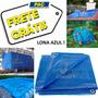 Lona Grande 12x10 M Azul Plastica Impermeavel Evento Telhado