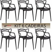 Cadeira Masters Allegra Em Pp Kit 6 Cadeiras 12x S/ Juros