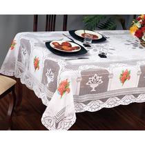 Toalha De Mesa Renda 4 Cadeiras 100% Polyester 1,6x1,6m